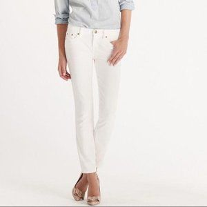 J. Crew Toothpick Skinny Jeans White 28 Ankle